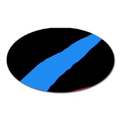 Colorful abstraction Oval Magnet