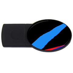 Colorful abstraction USB Flash Drive Oval (4 GB)