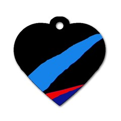 Colorful abstraction Dog Tag Heart (Two Sides)