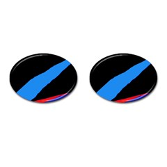 Colorful abstraction Cufflinks (Oval)