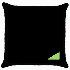 Green ball Throw Pillow Case (Black)