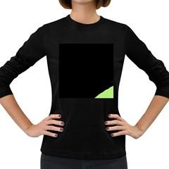 Green ball Women s Long Sleeve Dark T-Shirts