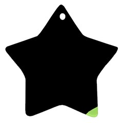 Green ball Star Ornament (Two Sides)