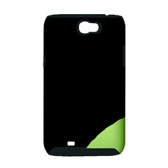 Green ball Samsung Galaxy Note 2 Hardshell Case (PC+Silicone)
