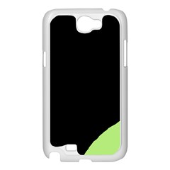 Green ball Samsung Galaxy Note 2 Case (White)