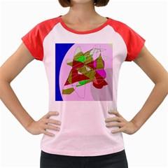 Flora abstraction Women s Cap Sleeve T-Shirt