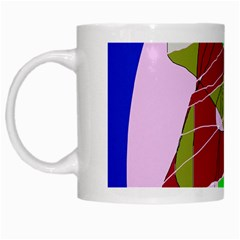 Flora Abstraction White Mugs