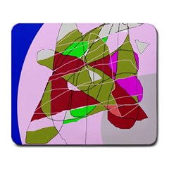 Flora abstraction Large Mousepads