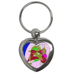 Flora abstraction Key Chains (Heart)