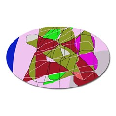 Flora abstraction Oval Magnet