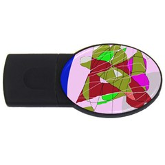 Flora abstraction USB Flash Drive Oval (1 GB)