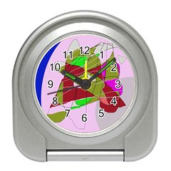 Flora abstraction Travel Alarm Clocks