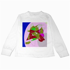 Flora abstraction Kids Long Sleeve T-Shirts