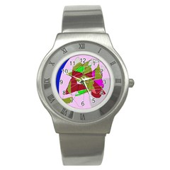 Flora abstraction Stainless Steel Watch