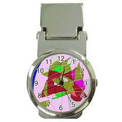 Flora abstraction Money Clip Watches