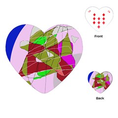 Flora abstraction Playing Cards (Heart)