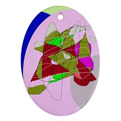 Flora abstraction Oval Ornament (Two Sides)
