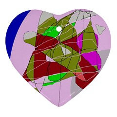 Flora abstraction Heart Ornament (2 Sides)