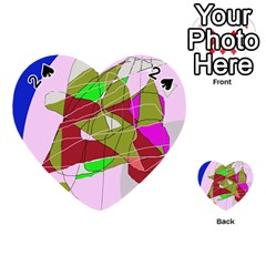 Flora abstraction Playing Cards 54 (Heart)