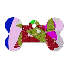 Flora abstraction Dog Tag Bone (Two Sides)