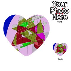 Flora abstraction Multi-purpose Cards (Heart)