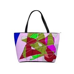 Flora abstraction Shoulder Handbags