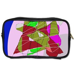 Flora abstraction Toiletries Bags 2-Side