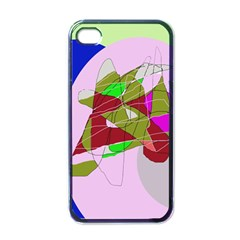 Flora abstraction Apple iPhone 4 Case (Black)