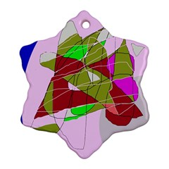 Flora abstraction Snowflake Ornament (2-Side)