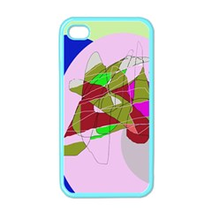 Flora abstraction Apple iPhone 4 Case (Color)
