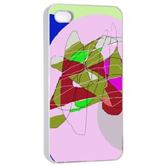Flora abstraction Apple iPhone 4/4s Seamless Case (White)