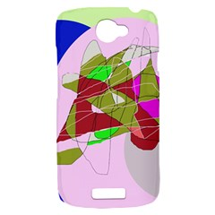 Flora abstraction HTC One S Hardshell Case