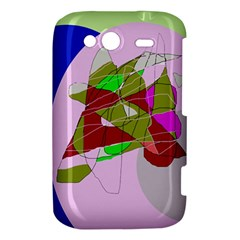 Flora abstraction HTC Wildfire S A510e Hardshell Case