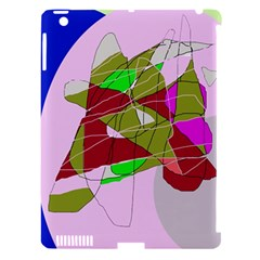 Flora abstraction Apple iPad 3/4 Hardshell Case (Compatible with Smart Cover)