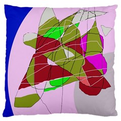 Flora abstraction Large Cushion Case (Two Sides)