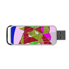 Flora abstraction Portable USB Flash (Two Sides)