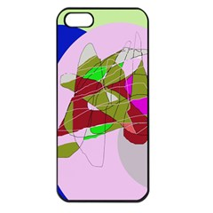 Flora abstraction Apple iPhone 5 Seamless Case (Black)