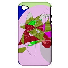 Flora abstraction Apple iPhone 4/4S Hardshell Case (PC+Silicone)