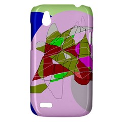 Flora abstraction HTC Desire V (T328W) Hardshell Case
