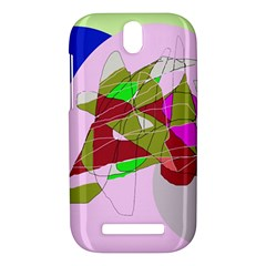 Flora abstraction HTC One SV Hardshell Case