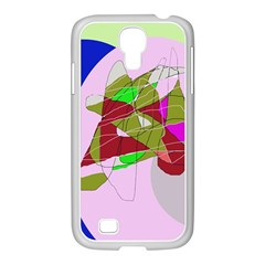 Flora abstraction Samsung GALAXY S4 I9500/ I9505 Case (White)