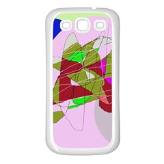 Flora abstraction Samsung Galaxy S3 Back Case (White)