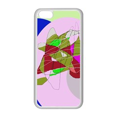 Flora abstraction Apple iPhone 5C Seamless Case (White)