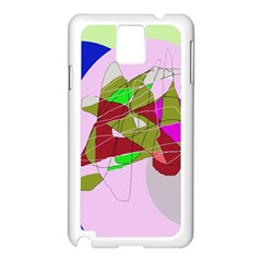 Flora abstraction Samsung Galaxy Note 3 N9005 Case (White)