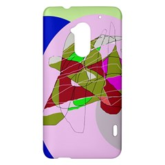 Flora abstraction HTC One Max (T6) Hardshell Case