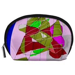 Flora abstraction Accessory Pouches (Large)