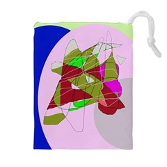 Flora abstraction Drawstring Pouches (Extra Large)