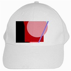 Decorative geomeric abstraction White Cap