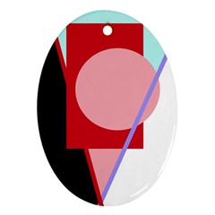 Decorative geomeric abstraction Ornament (Oval)
