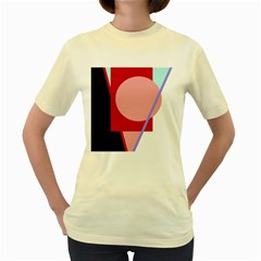 Decorative geomeric abstraction Women s Yellow T-Shirt